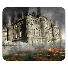 Castle Ruin Attack Destruction Double Sided Flano Blanket (small)