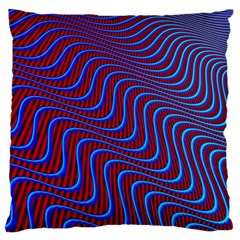 Wave Pattern Background Curves Large Cushion Case (one Side)