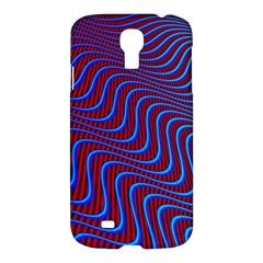 Wave Pattern Background Curves Samsung Galaxy S4 I9500/i9505 Hardshell Case