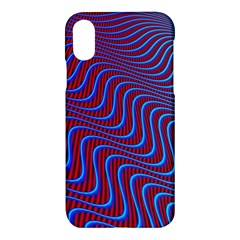 Wave Pattern Background Curves Apple Iphone X Hardshell Case