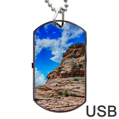 Mountain Canyon Landscape Nature Dog Tag Usb Flash (one Side)
