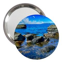 Shoreline Sea Coast Beach Ocean 3  Handbag Mirrors
