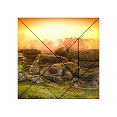 Rocks Outcrop Landscape Formation Acrylic Tangram Puzzle (4  X 4 )