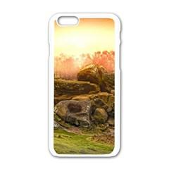 Rocks Outcrop Landscape Formation Apple Iphone 6/6s White Enamel Case