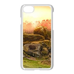 Rocks Outcrop Landscape Formation Apple Iphone 8 Seamless Case (white)