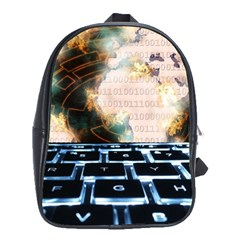 Ransomware Cyber Crime Security School Bag (xl)