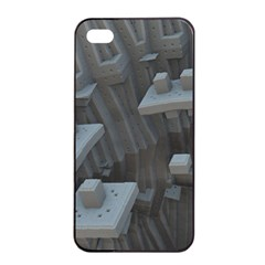 Backdrop Pattern Surface Texture Apple Iphone 4/4s Seamless Case (black)
