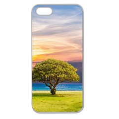 Tree Sea Grass Nature Ocean Apple Seamless Iphone 5 Case (clear)