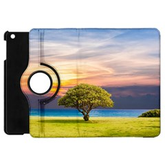 Tree Sea Grass Nature Ocean Apple Ipad Mini Flip 360 Case