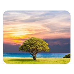 Tree Sea Grass Nature Ocean Double Sided Flano Blanket (large)