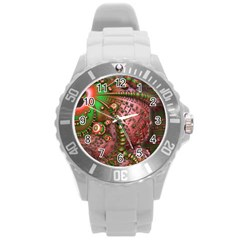 Fractal Symmetry Math Visualization Round Plastic Sport Watch (l)