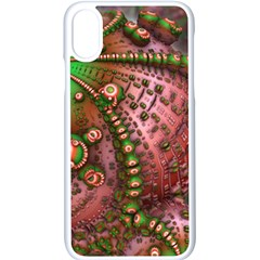 Fractal Symmetry Math Visualization Apple Iphone X Seamless Case (white)