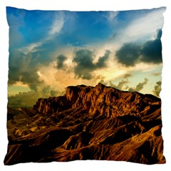 Mountain Sky Landscape Nature Large Flano Cushion Case (two Sides)