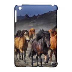Horses Stampede Nature Running Apple Ipad Mini Hardshell Case (compatible With Smart Cover)