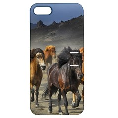 Horses Stampede Nature Running Apple Iphone 5 Hardshell Case With Stand