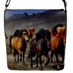 Horses Stampede Nature Running Flap Messenger Bag (s)