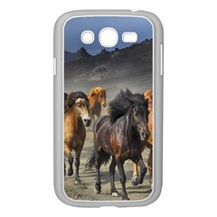 Horses Stampede Nature Running Samsung Galaxy Grand Duos I9082 Case (white)