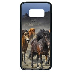 Horses Stampede Nature Running Samsung Galaxy S8 Black Seamless Case