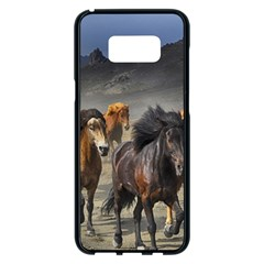 Horses Stampede Nature Running Samsung Galaxy S8 Plus Black Seamless Case