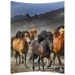 Horses Stampede Nature Running Back Support Cushion