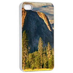 Mountains Landscape Rock Forest Apple Iphone 4/4s Seamless Case (white)