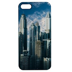 Skyscraper Cityline Urban Skyline Apple Iphone 5 Hardshell Case With Stand