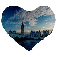 London Westminster Landmark England Large 19  Premium Heart Shape Cushions
