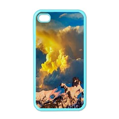 Mountains Clouds Landscape Scenic Apple Iphone 4 Case (color)