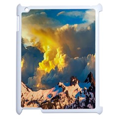 Mountains Clouds Landscape Scenic Apple Ipad 2 Case (white)