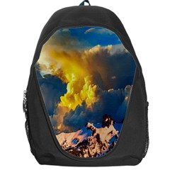 Mountains Clouds Landscape Scenic Backpack Bag