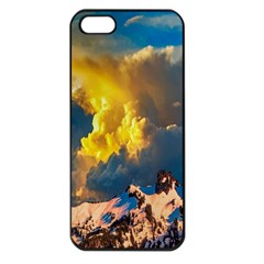 Mountains Clouds Landscape Scenic Apple Iphone 5 Seamless Case (black)