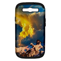 Mountains Clouds Landscape Scenic Samsung Galaxy S Iii Hardshell Case (pc+silicone)