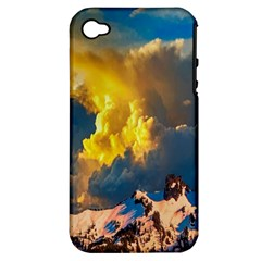 Mountains Clouds Landscape Scenic Apple Iphone 4/4s Hardshell Case (pc+silicone)