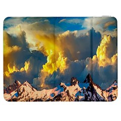 Mountains Clouds Landscape Scenic Samsung Galaxy Tab 7  P1000 Flip Case