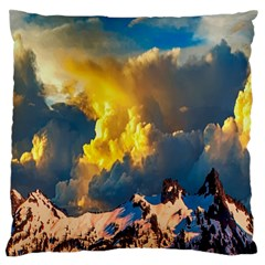 Mountains Clouds Landscape Scenic Large Flano Cushion Case (one Side)