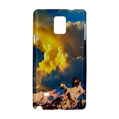 Mountains Clouds Landscape Scenic Samsung Galaxy Note 4 Hardshell Case