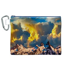 Mountains Clouds Landscape Scenic Canvas Cosmetic Bag (xl)