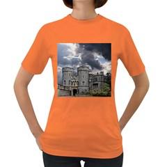 Castle Building Architecture Women s Dark T Shirt