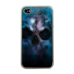 Skull Horror Halloween Death Dead Apple Iphone 4 Case (clear)
