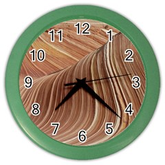 Swirling Patterns Of The Wave Color Wall Clocks