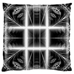 Geometry Pattern Backdrop Design Large Flano Cushion Case (two Sides)