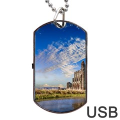 Ruin Church Ancient Architecture Dog Tag Usb Flash (two Sides)