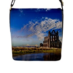 Ruin Church Ancient Architecture Flap Messenger Bag (l)