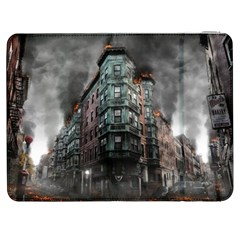 War Destruction Armageddon Disaster Samsung Galaxy Tab 7  P1000 Flip Case