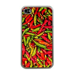 Chilli Pepper Spicy Hot Red Spice Apple Iphone 4 Case (clear)