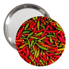 Chilli Pepper Spicy Hot Red Spice 3  Handbag Mirrors