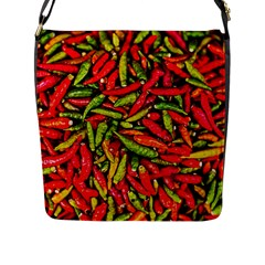 Chilli Pepper Spicy Hot Red Spice Flap Messenger Bag (l)