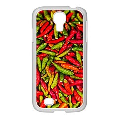 Chilli Pepper Spicy Hot Red Spice Samsung Galaxy S4 I9500/ I9505 Case (white)