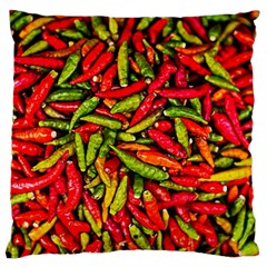 Chilli Pepper Spicy Hot Red Spice Large Flano Cushion Case (two Sides)