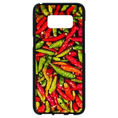 Chilli Pepper Spicy Hot Red Spice Samsung Galaxy S8 Black Seamless Case